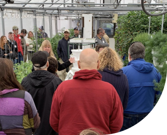 People in a greenhouse